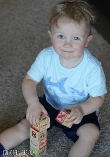 toddler stacking blocks