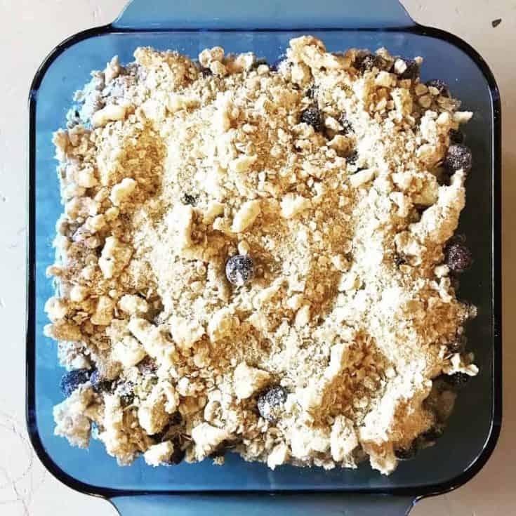 Simple Blueberry Crisp