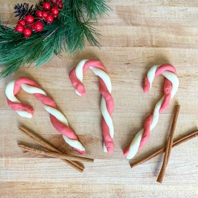 Candy cane play dough