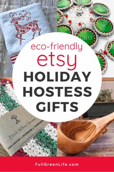 Ecofriendly Etsy holiday hostess gifts