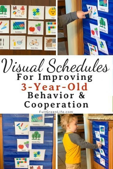 Visual schedule for three-year-olds
