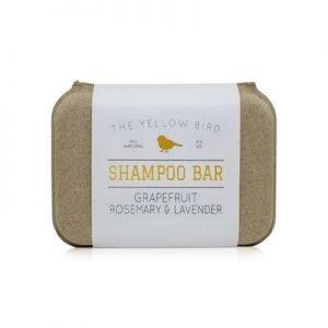 shampoo bar inside paper/cardboard packaging