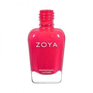 Zoya nail polish in watermelon pink color
