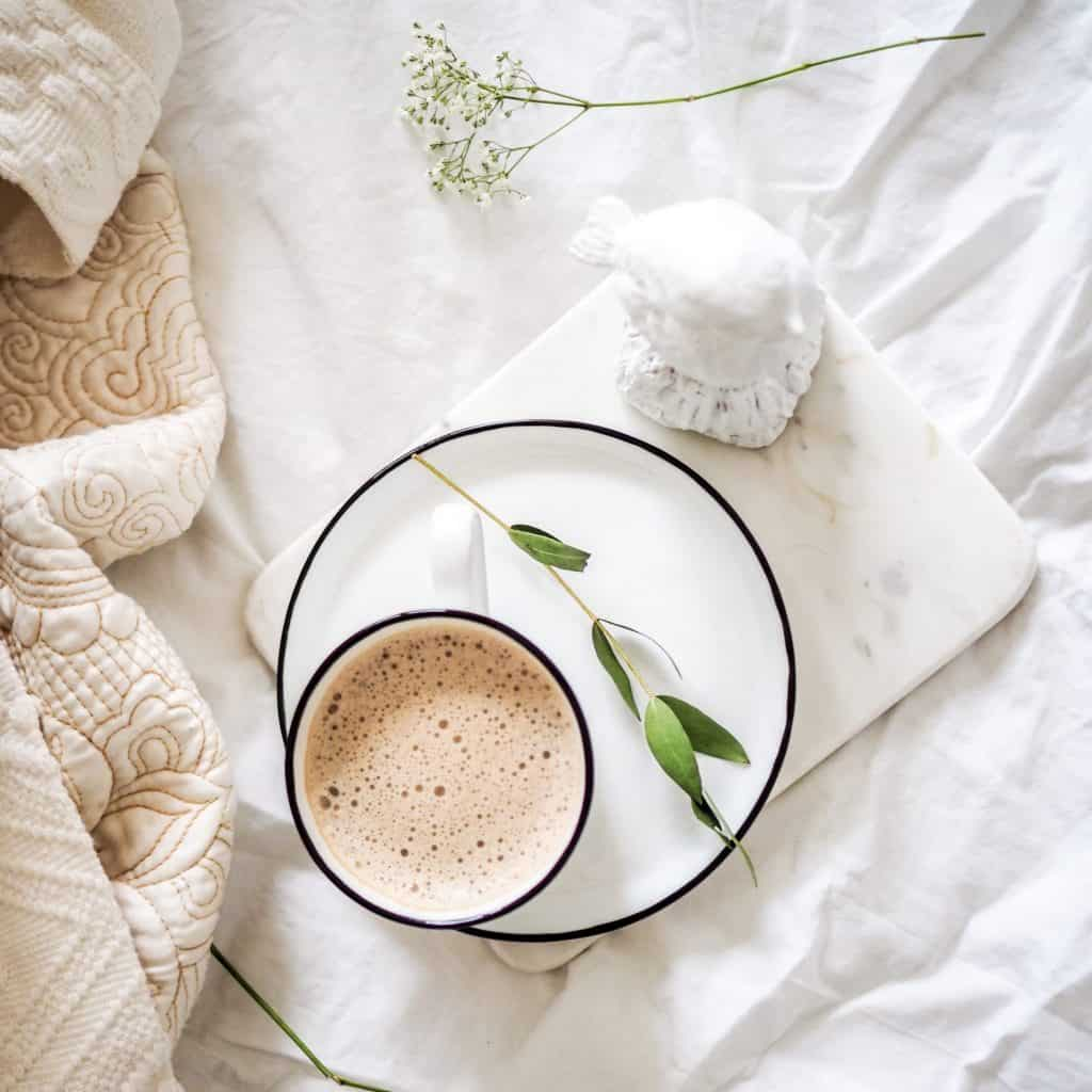 cappucino in bed