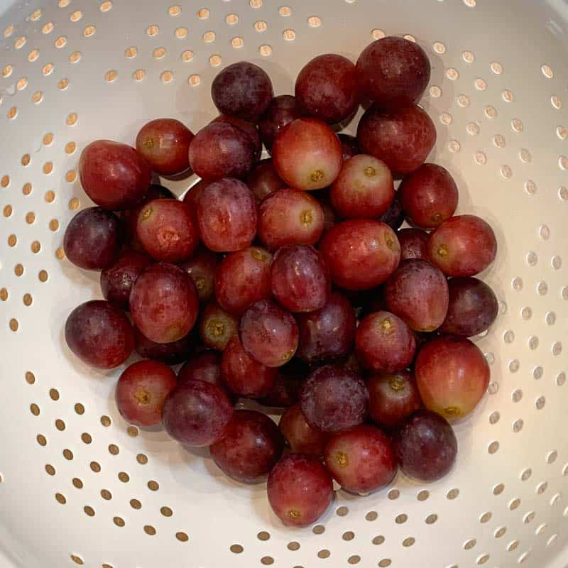 red grapes after they've been rinsed with plain water