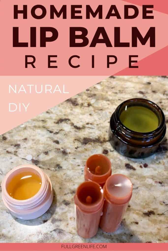 Easy Homemade Lip Balm Recipe, Natural DIY
